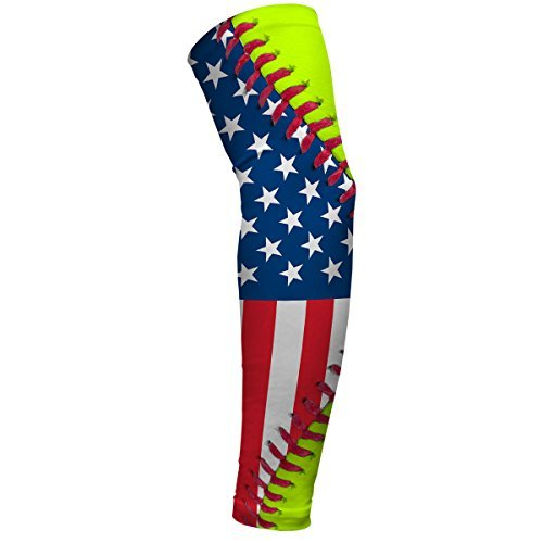 Softball Lace America Flag Arm Sleeves by SLEEFS Lace Arm