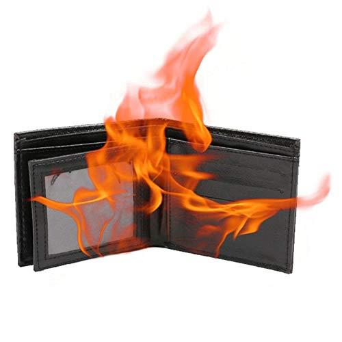 ningxiao586 Zaubertrick Gimmick Flamme Feuer Brieftasche Leder Brieftasche Zauberrequisiten (Magie Brieftasche)