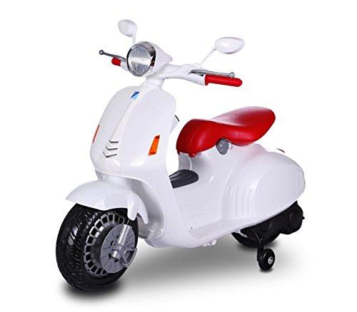 Scooter eléctrico para niños 12V asiento de cuero