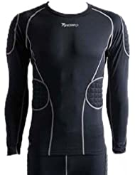 Precision PT Padded Base-Layer Goalkeeper Shirt in Black / Silver