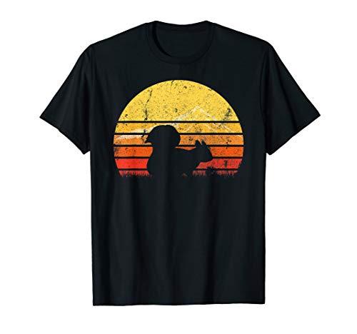Eichhörnchen-jugend-t-shirt (Weinlese Retro Eichhörnchen Silhouette Sun T-Shirt Geschenk)