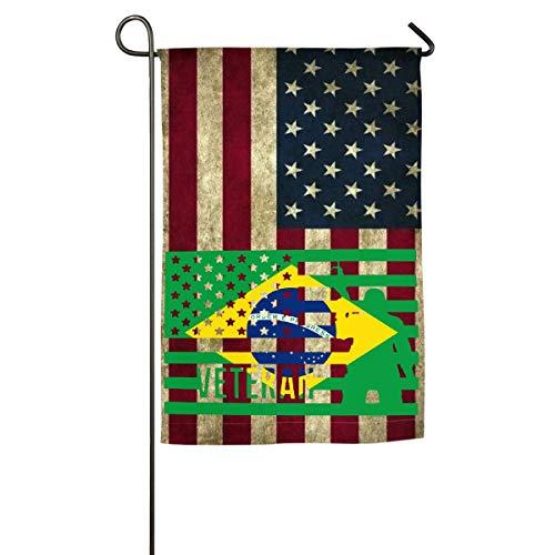 N/A Veteran amerikanische Brasilien-Flaggen-Garten-Flagge Feiertags-Flaggen-Frühlings-Sommer-dekorative Flagge -
