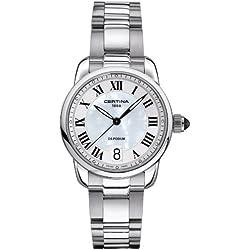 Certina Cer-0386 - Reloj de cuarzo para mujer, con correa de acero inoxidable, color plateado
