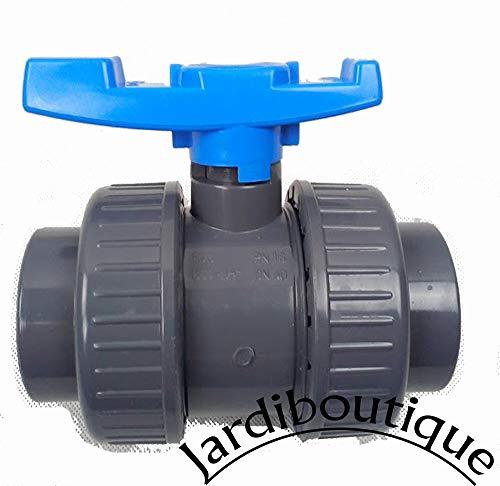 Vannes PVC pour piscine diamètre 50 mm - vanne a collé - Jardiboutique