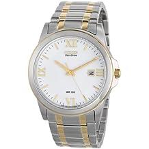 CITIZEN WATCH BM7264-51A - Reloj analógico de cuarzo para hombre, correa de acero inoxidable chapado multicolor
