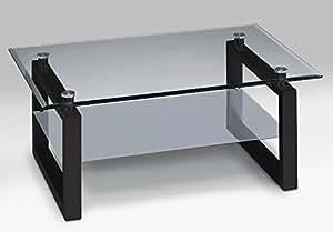 Allegro couchtisch follow s 3 schwarz klarglas und for Design couchtisch satiniertes glas