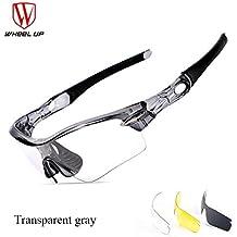 toptotn ciclismo gafas deportes al aire libre gafas de sol fotocromáticas decoloración MTB bicicleta Gafas anti-UV gafas de bicicleta, negro