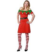 31f0f1ccedd79 ILOVEFANCYDRESS Déguisement pour Elf de Noël avec Une Robe Courte + Une  Ceinture pour Femme.