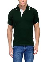 Scott Men's Premium Cotton Polo T-shirt - Bottle Green