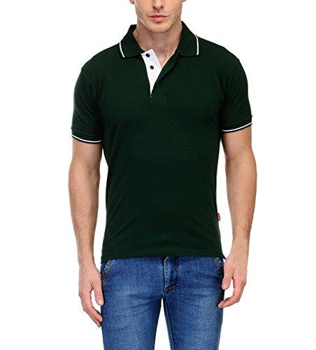 Scott International Scottish Polo T-Shirt for Men (Bottle Green) X-Large