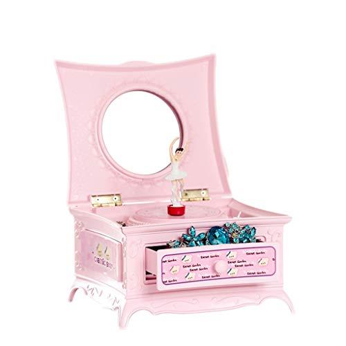 e Klassische rotierende kleine Mädchen-Ballett-Spieluhr, kreatives Plattenspieler-Spieluhr-Geburtstagsgeschenk Schöne Spieluhr (Color : Pink) ()