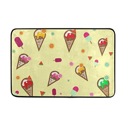 melon Ice Cream Fußabtreter für Außenbereiche, Rutschfest, Polyester für Küche, Garten, Zimmer, 15,7 x 23,6 cm ()