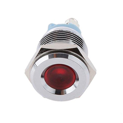 FL1M-16FA 16mm Auto Boot LED Anzeigelampe Warnlicht Kontrollleuchte Birne - Rot