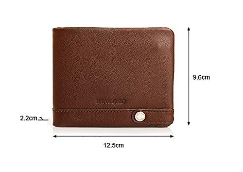 ZXDOP Geldbörsen Herren Leder Brieftasche Retro Herren Kurze Herren Leder Personalisierte Leder Brieftasche ( farbe : 3# ) 3#