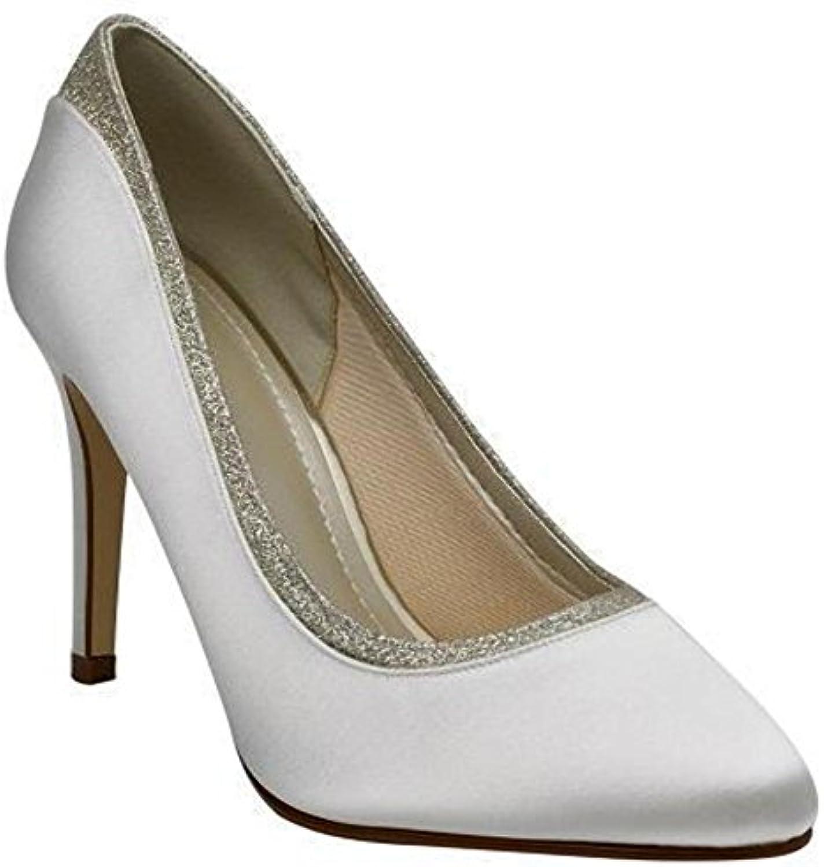 Rainbow Club Billie Chaussures de mariée en satin, couleur ivoire ivoire ivoire et paillettes finesB013081KIOParent 79be65