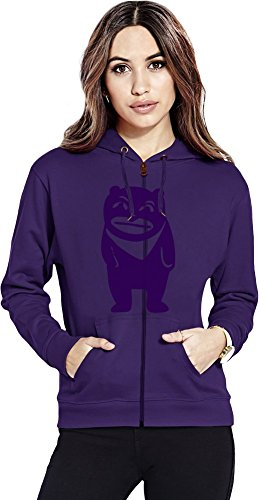 Doodle bear Womens Zipper Hoodie X-Large (Bear Womens Hoodie Zip)