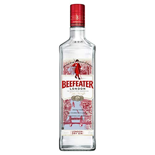Beefeater London Dry Gin - Der meistausgezeichnete Gin der Welt - Klassisch frischer Gin mit vielschichtigem Charakter - Perfekte harmonische Basis für vielseitige Geschmackskombinationen - 1 x 1 L -