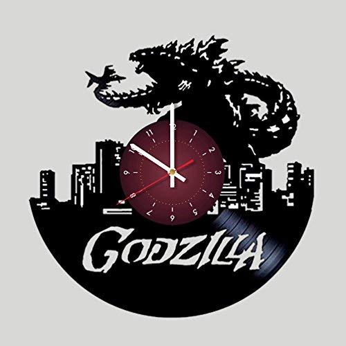 My STORE For YOU Godzilla Wanduhr aus Vinyl, für Kinderzimmer, Geschenkidee für Kinder, Baby, Bruder und Schwester, Ihn und Sie