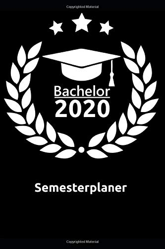 Bachelor 2020 Semesterplaner: Cooler Organizer (6x9