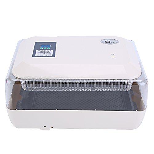 Cocoarm Eier Inkubator 24 Eier Vollautomatische Digital Brutmaschine Brutapparat Hatcher Maschine Motorbrüter mit LED Anzeige 220V