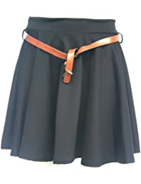 womens ladies pleated skater skirt size 6 - 14
