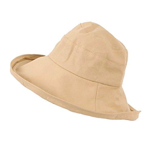 Sungpunet Stopfbarer UPF Straw Sonnenhut Frauen-Sommer-Strand Außen Wide Brim Fedora Travel Hat...