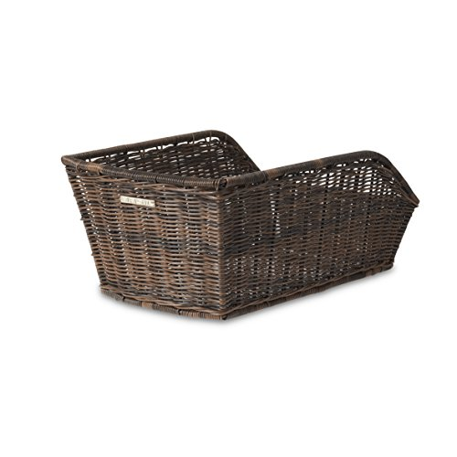 Basil Hinterradkorb Cento-Rattan Look Fahrradkorb, Brown, 47 x 34 x 22 cm