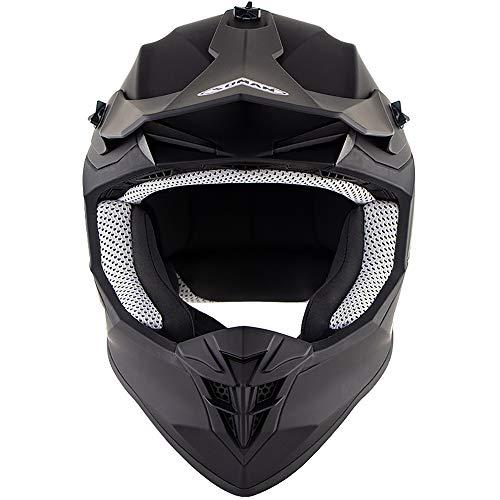 MMGIRLS Casco da Cross Downhill ATV ATV Protezione da Sport Outdoor Casco Integrale da Moto Certificazione ECE Unisex Four Seasons Universal - Matte Black,XL