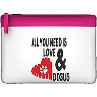 All You Need Is Love e cuore di Zoe Degus Roditore persona amanti degli animali domestici–Astuccio piatto Misura unica rosa