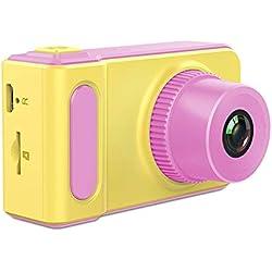 ASG Appareil Photo numérique pour Enfants Appareil Photo de Mode Mini Mignon numérique Petit Appareil Photo Reflex Jouet Sport caméra,B