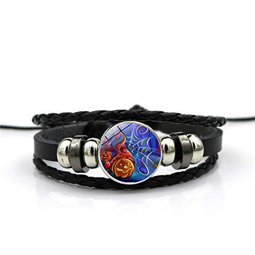 Blisfille Handgemachte Halloween Grimasse Zeit Edelstein Armband Mode Armband Armband Herren Damen Karnevalsfeier