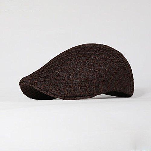 MAZHONG Hüte Sommer Reise Sonnencreme Knit Visor Mesh Männer Sommer ( Farbe : Braun ) (Männer Für Visor-hüte Knit)