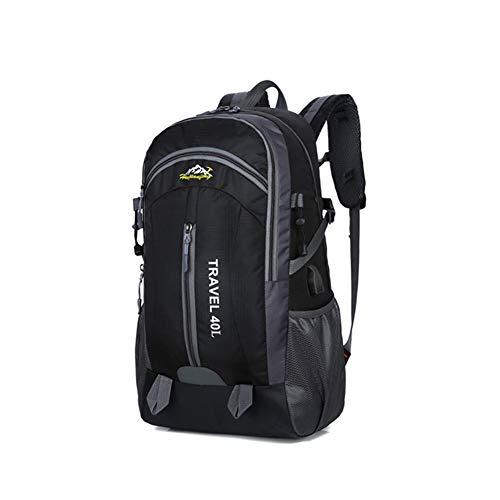 Wision Zaino da alpinismo impermeabile 40L ad alta capacità, il compagno ideale per le tue attività all\'aria aperta (black)