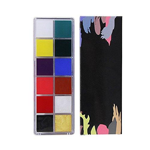 (LadyBeauty Fantastic 12 Farben Körper Gesicht Ölgemälde Make-up Kit in Halloween)