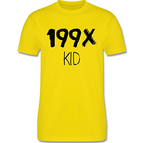 Statement Shirts - 199X KID - Herren Premium T-Shirt Lemon Gelb