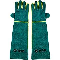ZXW Handschuh- Anti-Biss Handschuhe Pet Anti-Biss Anti-Greifer Hundetraining Hund Katze Verdickung Handschuhe (Farbe : Green, größe : L58cm)