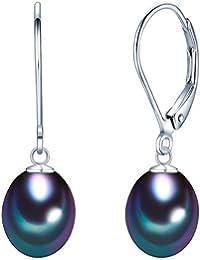 Valero Pearls - Pendientes embellecidos con Perlas de agua dulce - 925 Plata esterlina - Pearl Jewellery, Pendientes de Plata esterlina, Joyería de plata - 60201693