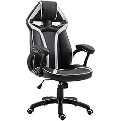 CARO-Möbel Gaming Dehstuhl Speedy in schwarz/grau Bürostuhl Racer Schreibtischstuhl, höhenverstellbar 98-108 cm