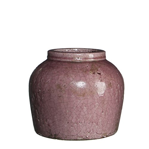 Mica Decorations 118280 Pot Ronde Karl H22.5d25.5 Violet