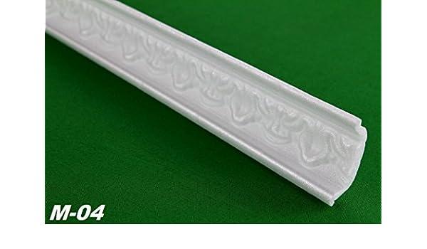 M-04 Hexim Eckprofil Polystyrolleiste Deckenleiste Dekor Stuck 30 Meter 35x35mm