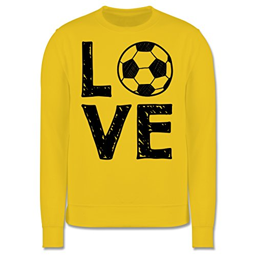 Fußball - Love Fußball - Herren Premium Pullover Gelb