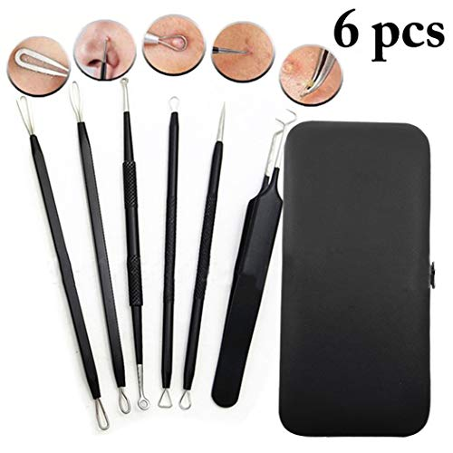 Trousse professionnelle de suppression de l'acné pour outils de dissolvant de têtes noires 6PCS pour peau de nez