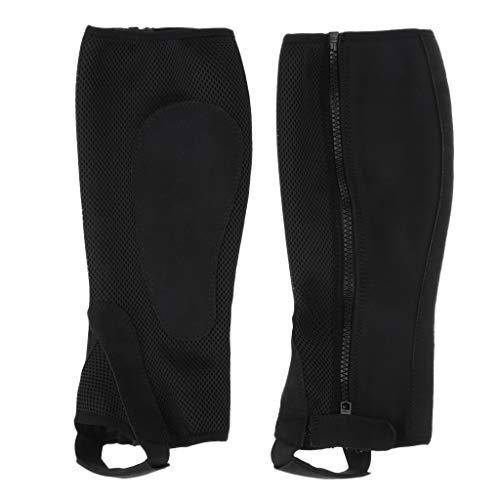 Baoblaze 1 Paar Reitgamaschen Beinschut mit Reißverschluss für Erwachsene, schwarz - XS