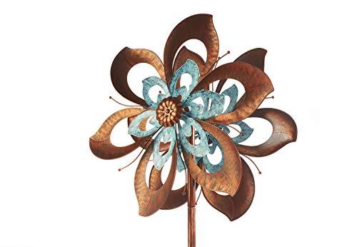 Kobolo XXL Windrad Dekostecker Flower aus Metall | Garten > Dekoration > Windräder | Kobolo
