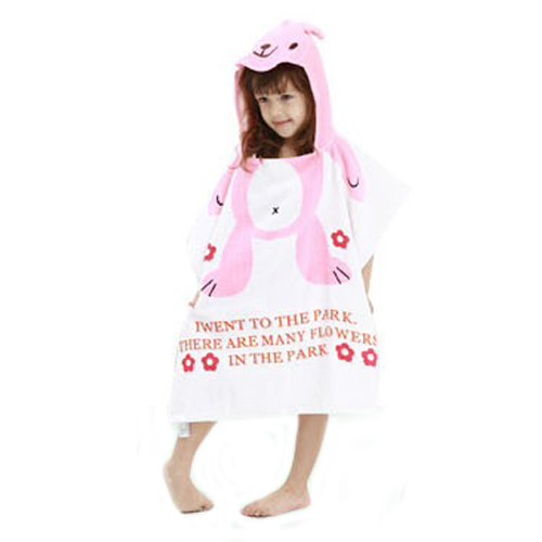 Rabbit Kids Super Soft Best Bathing Towel with Animal Printed Cap Hood Baby Birthday Return Gifts Bath robe