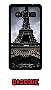 Caseque Eiffel Tower Back Shell Case Cover for Samsung Galaxy Core 2