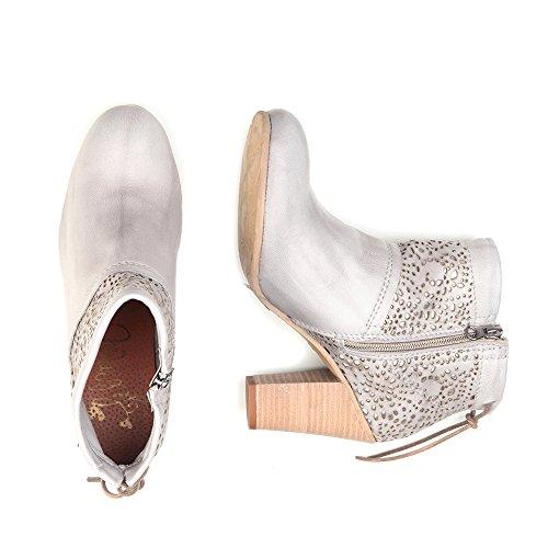 Felmini - Damen Schuhe - Verlieben Braganca 8817 - Hochhackige Stiefeletten - Echte Leder - Grau - 0 EU Size Grau