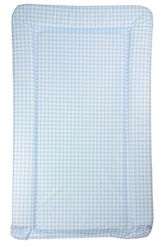 Blauer Gingham-Baby-Wickelauflage - Blue Gingham (Blau Gingham Check)