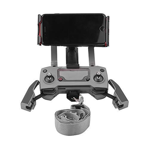 kingko® Tablet Ständer Halter Extender mit Lanyard Für DJI Mavic 2 Pro / Zoom (DJI Mavic Nicht Enthalten) Mobile Tablet Extender Halter Halterung Lanyard RC (Schwarz) Schwarz-mobile-skin