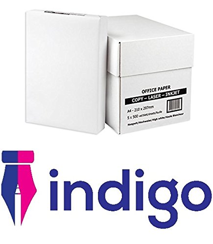 BOX of A4 Office White Printer Copier Paper 5 Reams of 500 (80gsm) Multifunction laser inkjet paper
